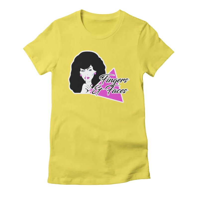 Fingers & Faces Women's Fitted T-Shirt by DRACULAD Shop