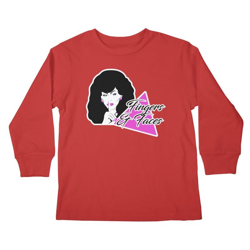 Fingers & Faces Kids Longsleeve T-Shirt by DRACULAD Shop