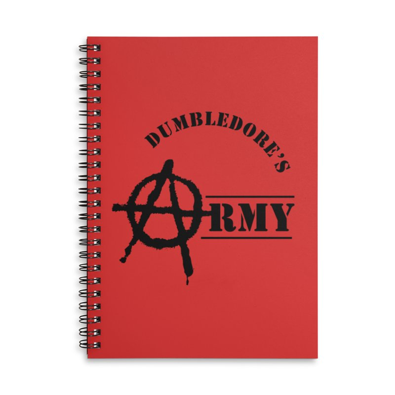 Dumbledore's Army - Black Accessories Notebook by DRACULAD Shop