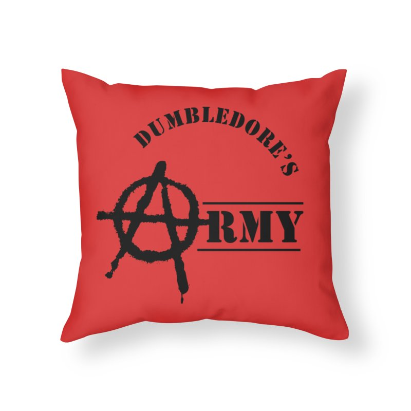 Dumbledore's Army - Black Home Throw Pillow by DRACULAD Shop