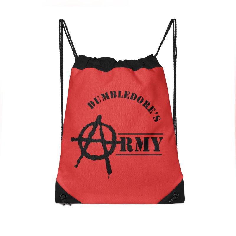 Dumbledore's Army - Black Accessories Drawstring Bag Bag by DRACULAD Shop