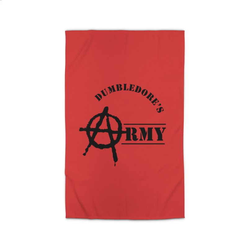 Dumbledore's Army - Black Home Rug by DRACULAD Shop