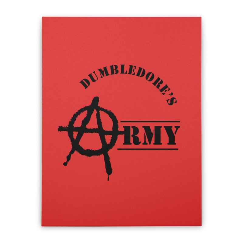 Dumbledore's Army - Black Home Stretched Canvas by DRACULAD Shop