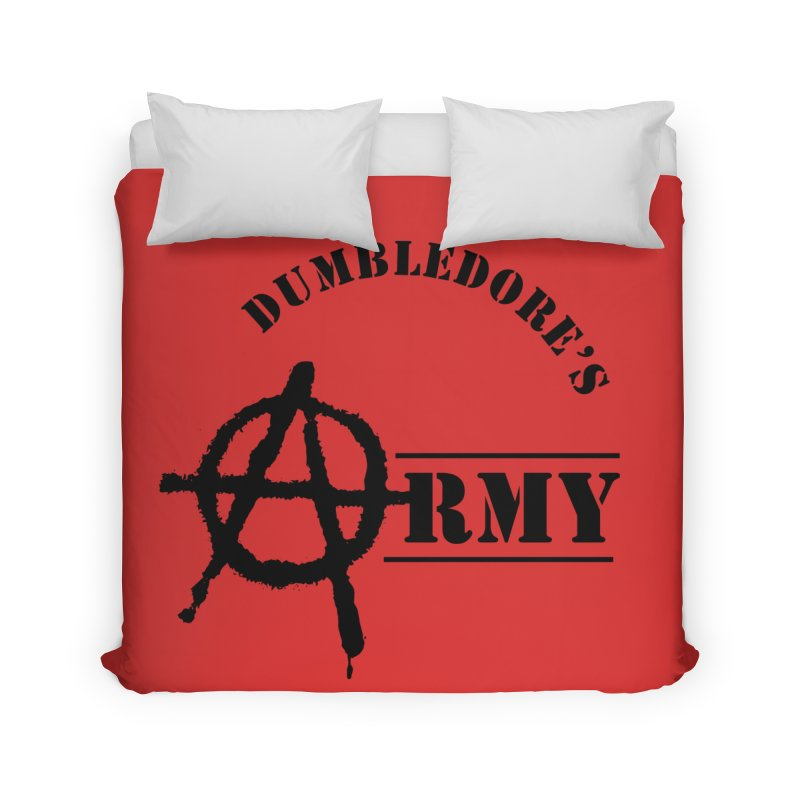 Dumbledore's Army - Black Home Duvet by DRACULAD Shop