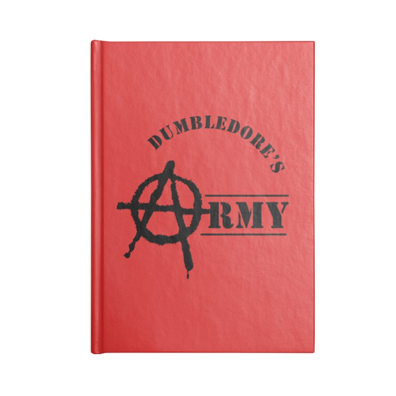 Dumbledore's Army - Black Accessories Blank Journal Notebook by DRACULAD Shop