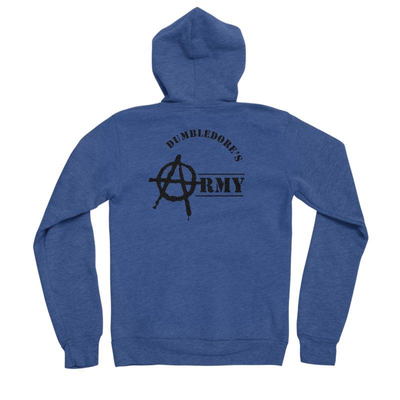Dumbledore's Army - Black Men's Sponge Fleece Zip-Up Hoody by DRACULAD Shop