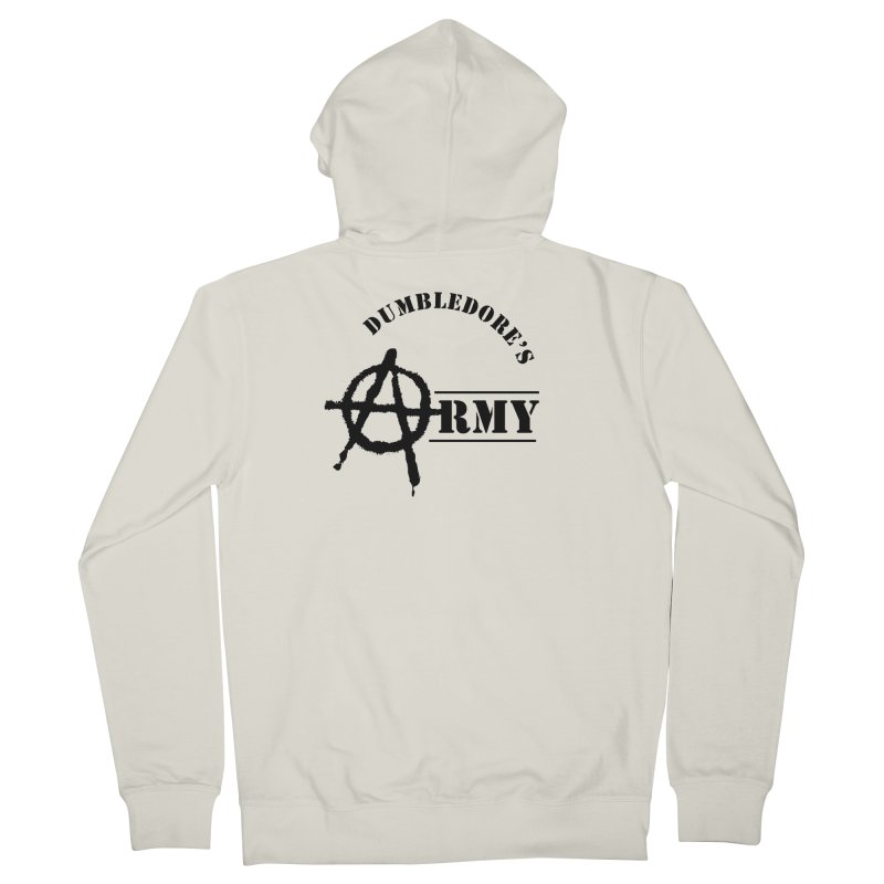 Dumbledore's Army - Black Men's French Terry Zip-Up Hoody by DRACULAD Shop