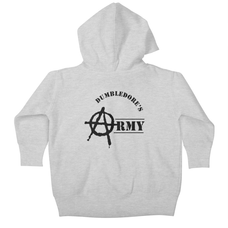 Dumbledore's Army - Black Kids Baby Zip-Up Hoody by DRACULAD Shop