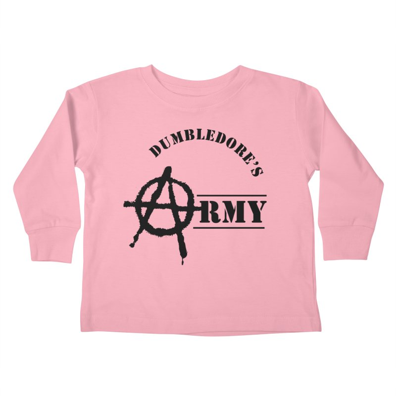 Dumbledore's Army - Black Kids Toddler Longsleeve T-Shirt by DRACULAD Shop