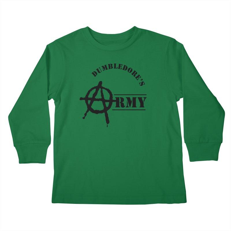 Dumbledore's Army - Black Kids Longsleeve T-Shirt by DRACULAD Shop