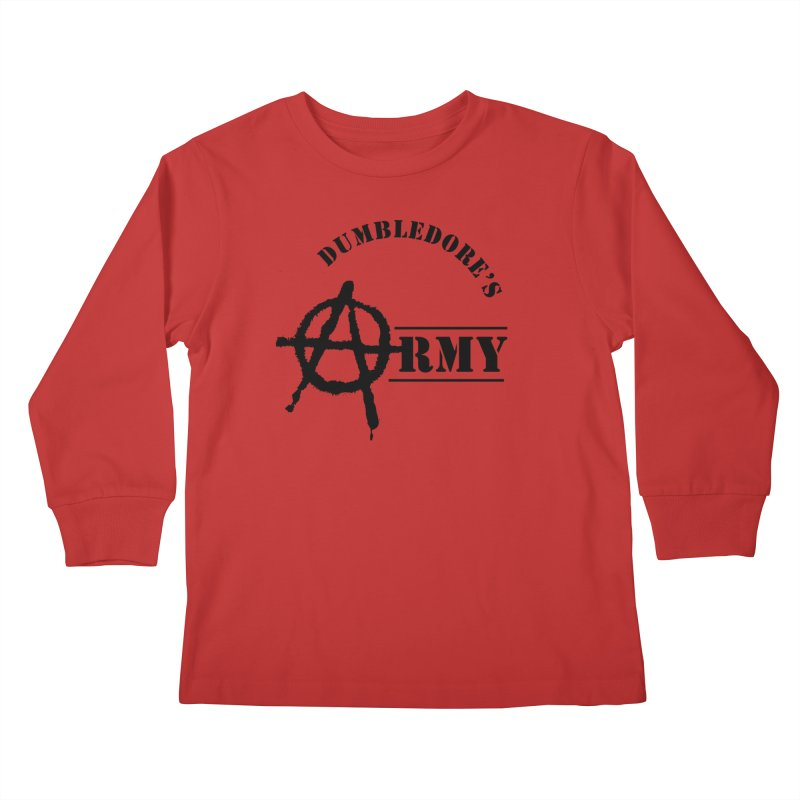 Dumbledore's Army - Black Kids Longsleeve T-Shirt by DRACULAD Shop