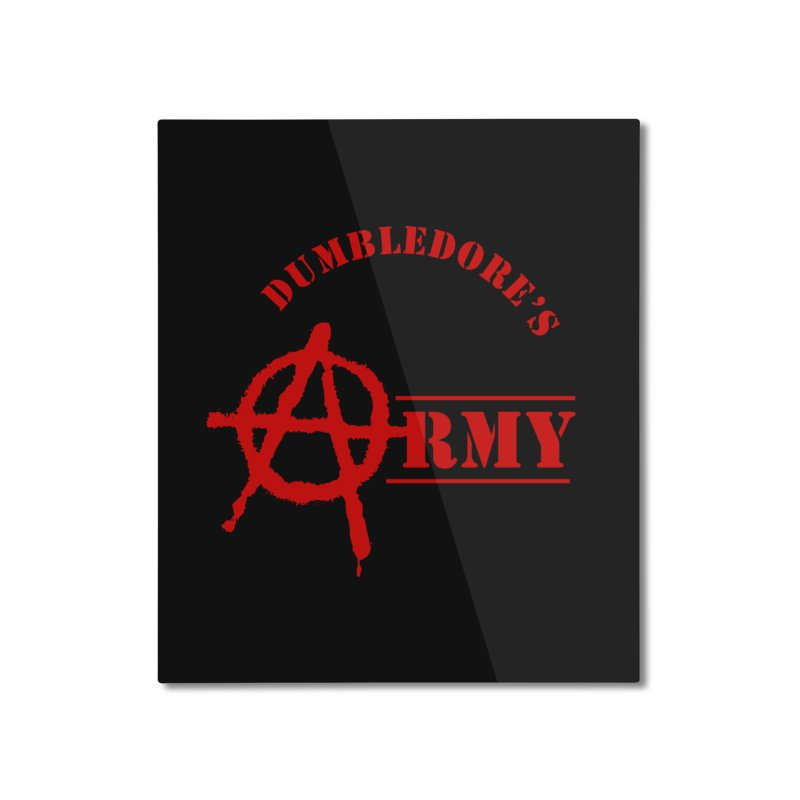 Dumbledore's Army - Red Home Mounted Aluminum Print by DRACULAD Shop