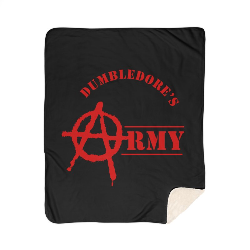 Dumbledore's Army - Red Home Sherpa Blanket Blanket by DRACULAD Shop