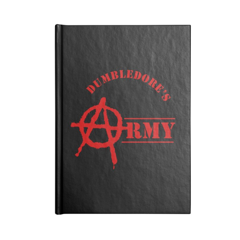 Dumbledore's Army - Red Accessories Blank Journal Notebook by DRACULAD Shop