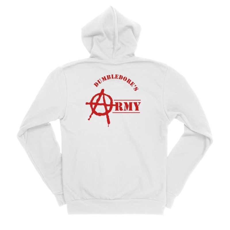 Dumbledore's Army - Red Men's Zip-Up Hoody by DRACULAD Shop