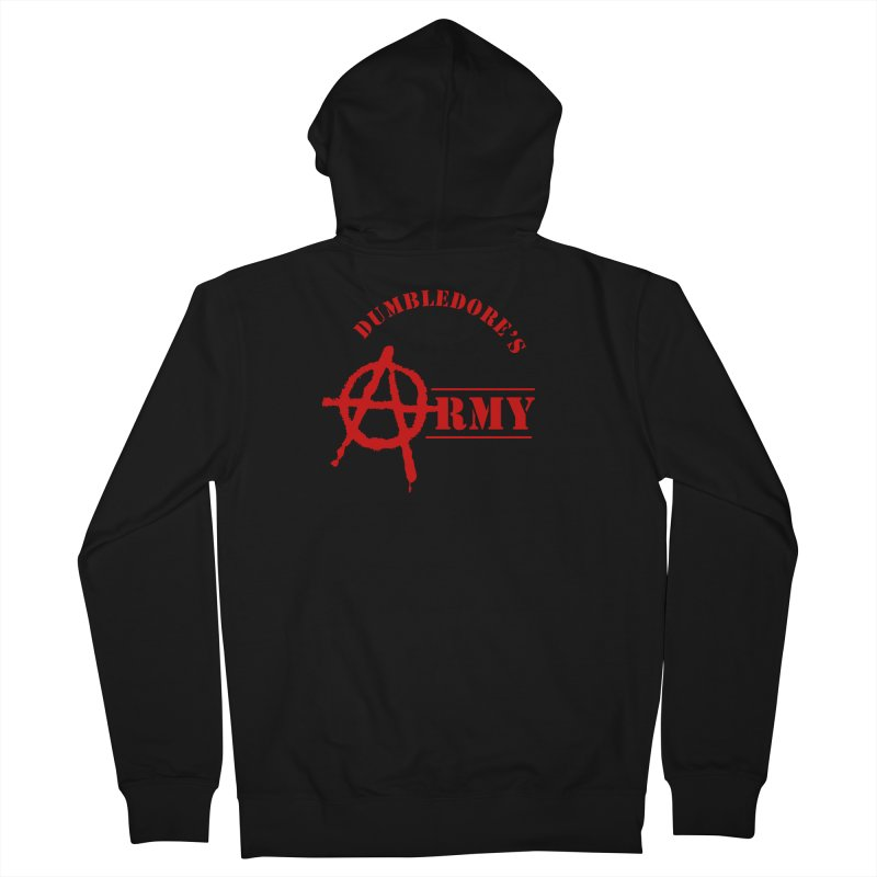 Dumbledore's Army - Red Men's French Terry Zip-Up Hoody by DRACULAD Shop