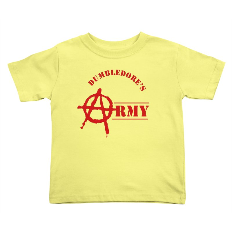 Dumbledore's Army - Red Kids Toddler T-Shirt by DRACULAD Shop