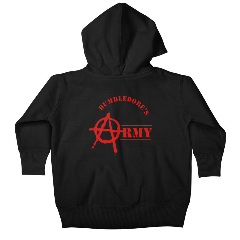 Dumbledore's Army - Red Kids Baby Zip-Up Hoody by DRACULAD Shop