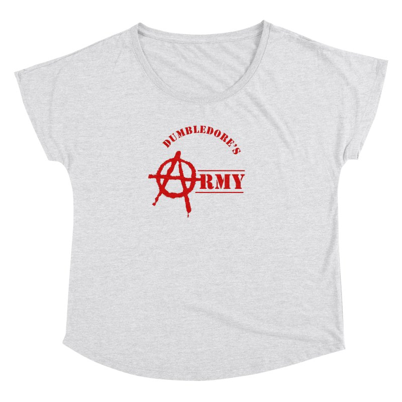 Dumbledore's Army - Red Women's Dolman Scoop Neck by DRACULAD Shop
