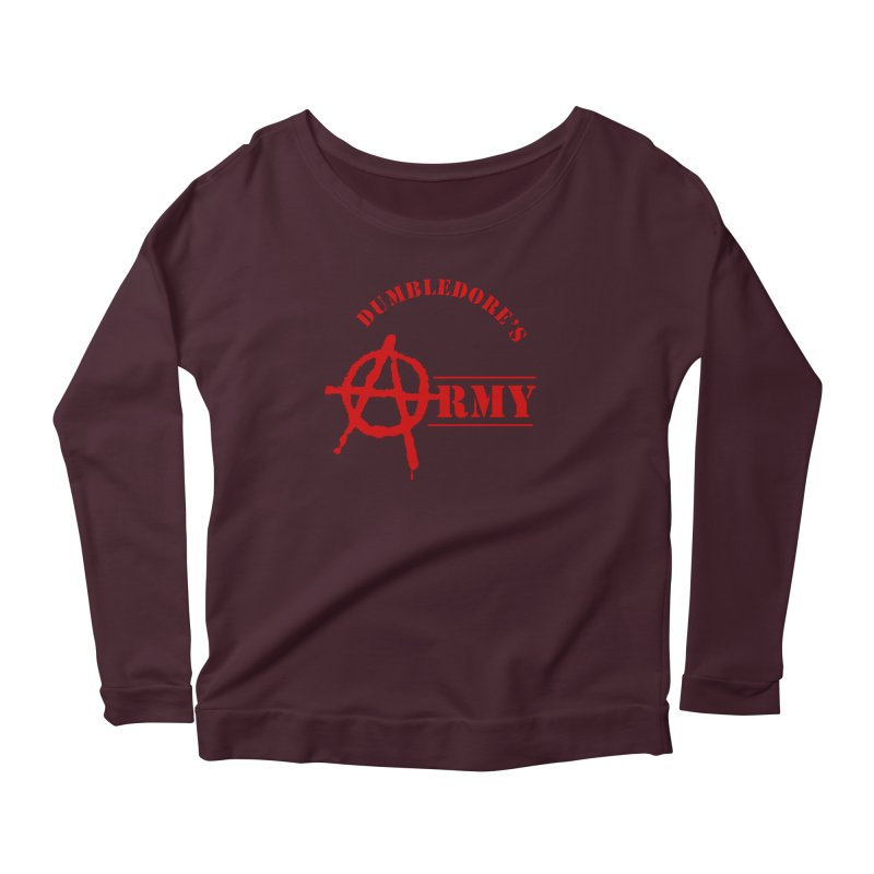 Dumbledore's Army - Red Women's Scoop Neck Longsleeve T-Shirt by DRACULAD Shop