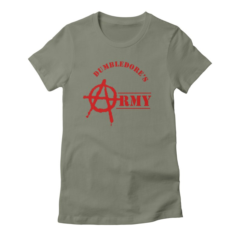 Dumbledore's Army - Red Women's Fitted T-Shirt by DRACULAD Shop