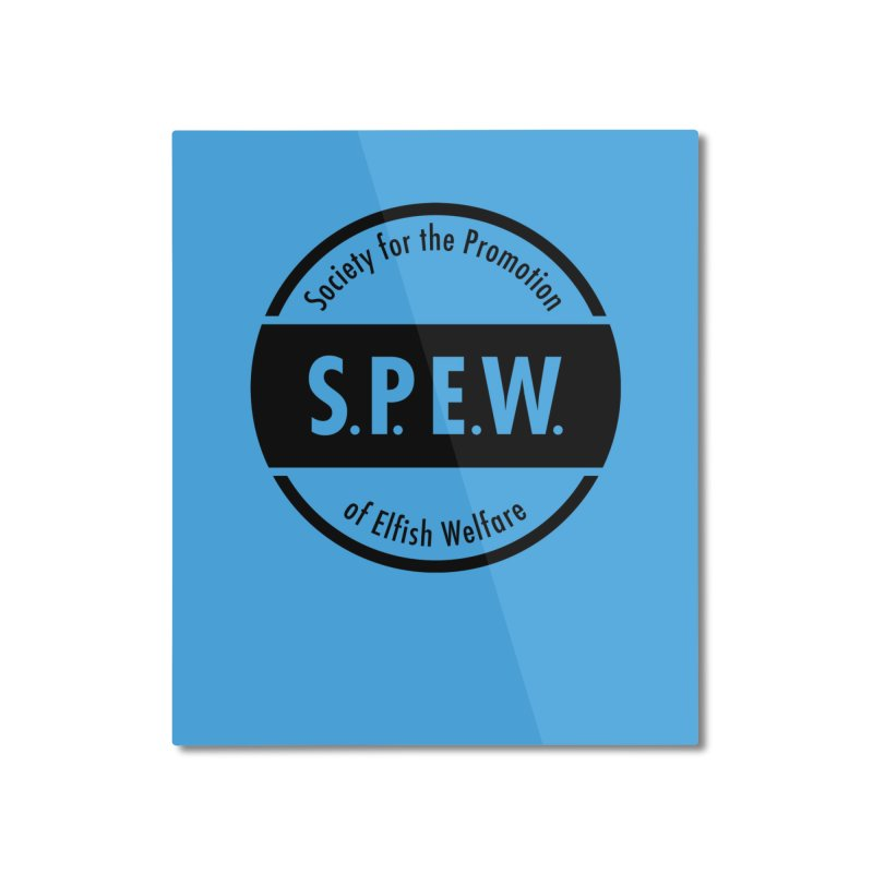 SPEW Home Mounted Aluminum Print by DRACULAD Shop