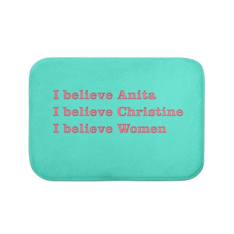 I Believe Women Home Bath Mat by DRACULAD Shop
