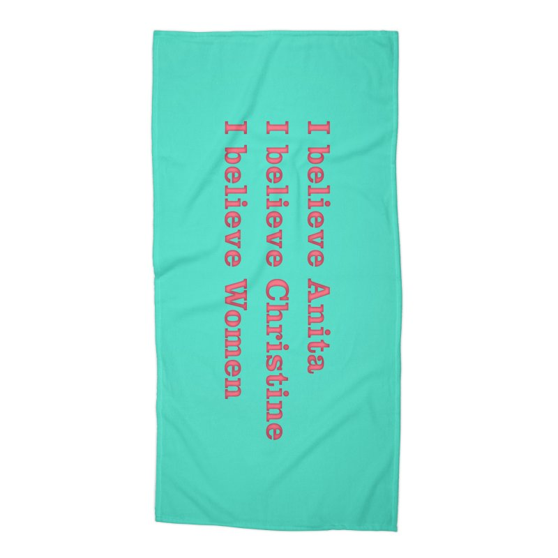 I Believe Women Accessories Beach Towel by DRACULAD Shop