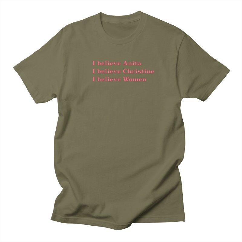 I Believe Women Men's Regular T-Shirt by DRACULAD Shop