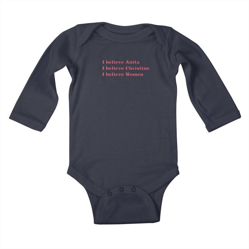 I Believe Women Kids Baby Longsleeve Bodysuit by DRACULAD Shop