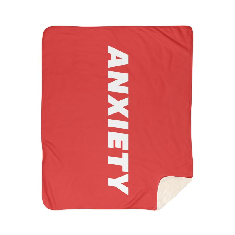 ANXIETY Home Sherpa Blanket Blanket by DRACULAD Shop