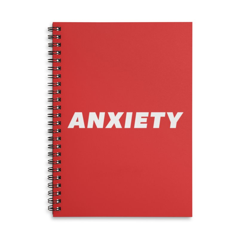 ANXIETY Accessories Notebook by DRACULAD Shop