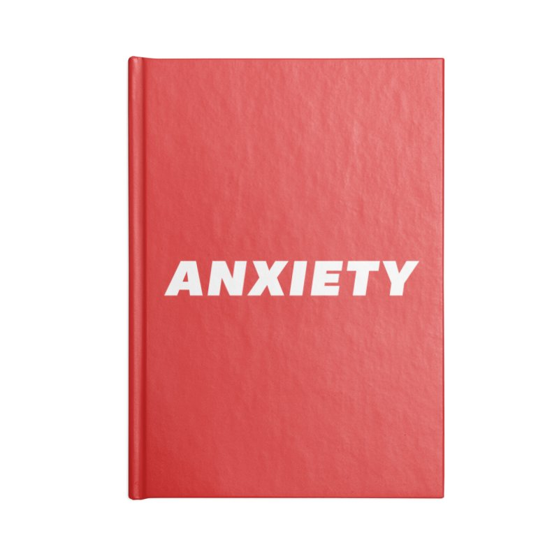 ANXIETY Accessories Blank Journal Notebook by DRACULAD Shop