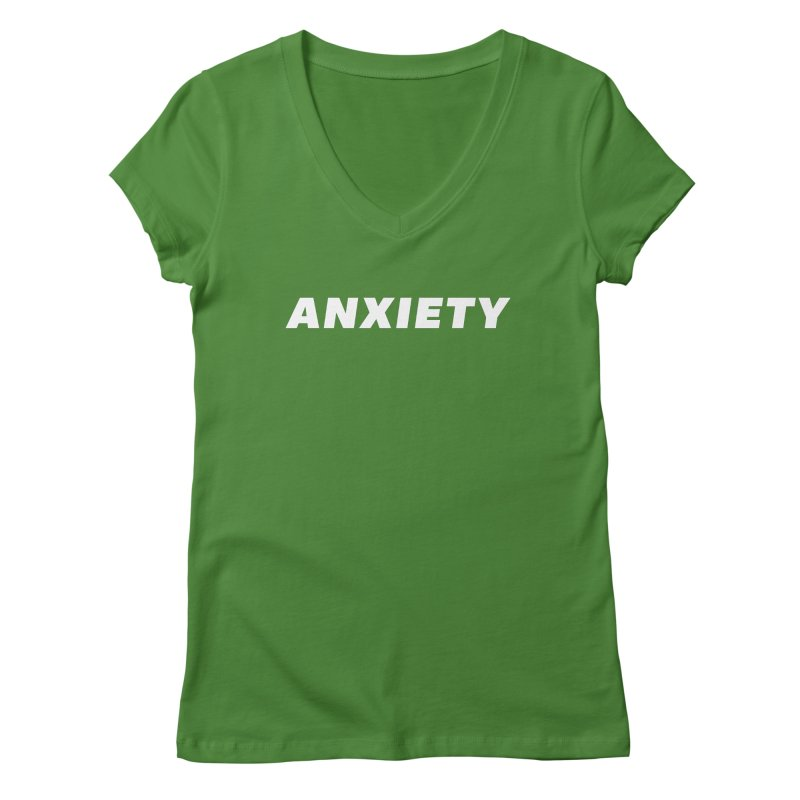 ANXIETY Women's Regular V-Neck by DRACULAD Shop
