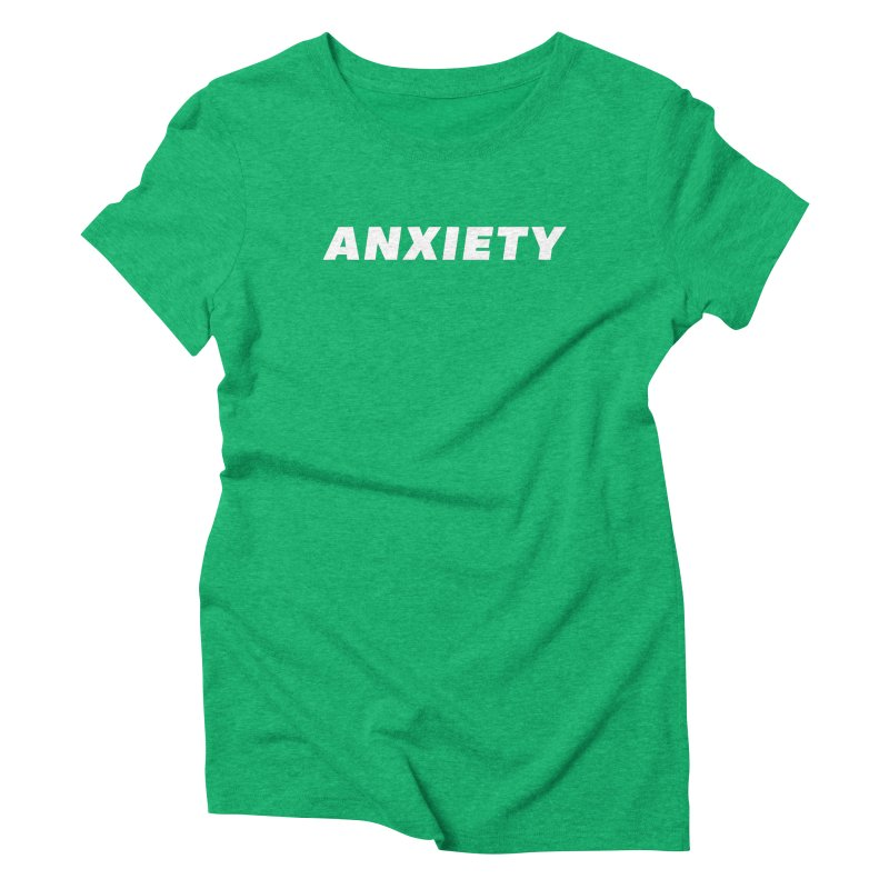 ANXIETY Women's Triblend T-Shirt by DRACULAD Shop