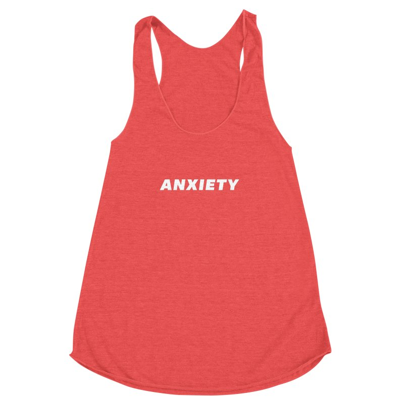 ANXIETY Women's Racerback Triblend Tank by DRACULAD Shop