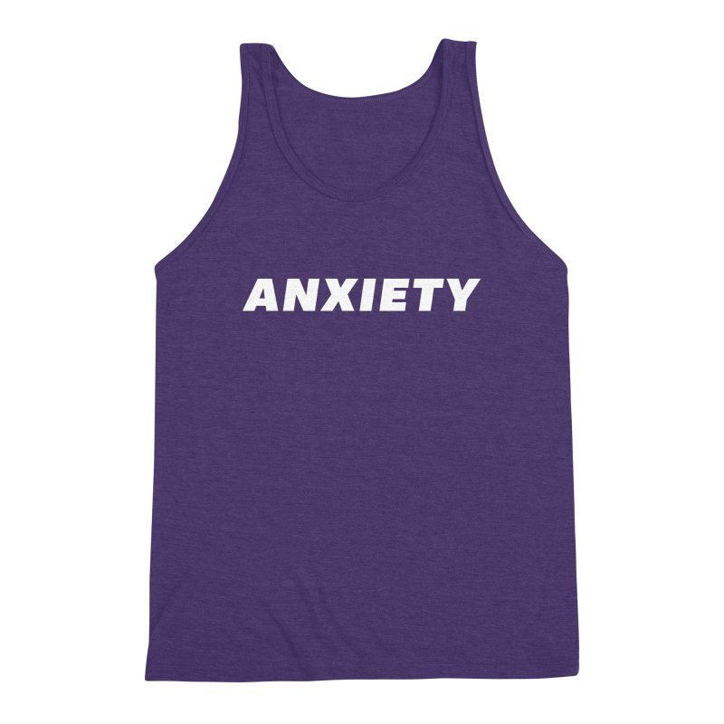 ANXIETY Men's Triblend Tank by DRACULAD Shop
