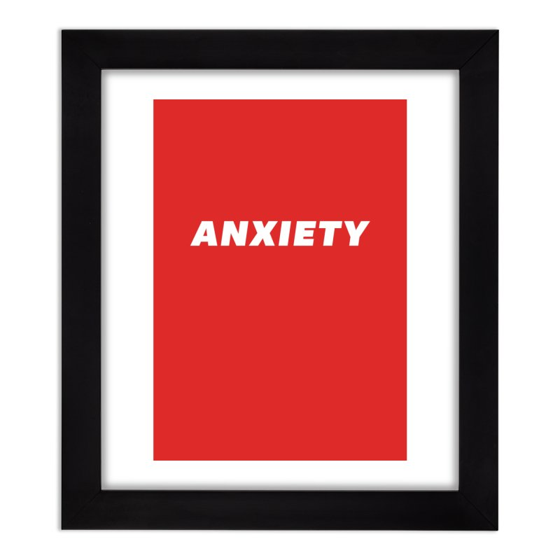 ANXIETY Home Framed Fine Art Print by DRACULAD Shop