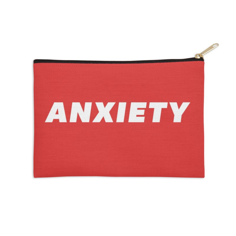 ANXIETY Accessories Zip Pouch by DRACULAD Shop