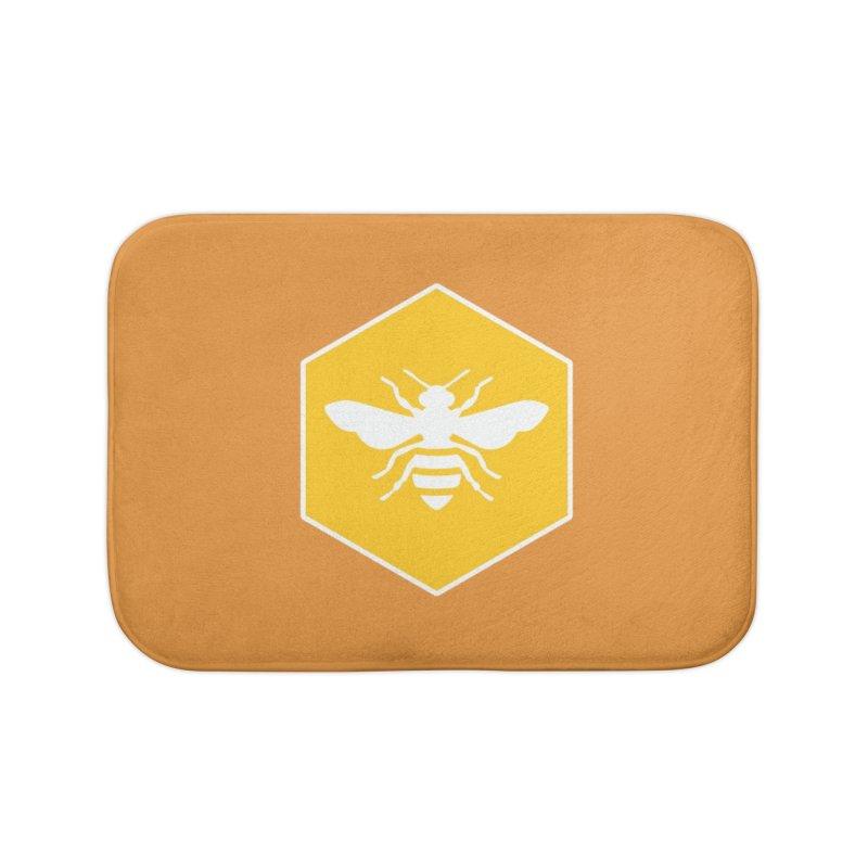 Bee Badge Home Bath Mat by DRACULAD Shop