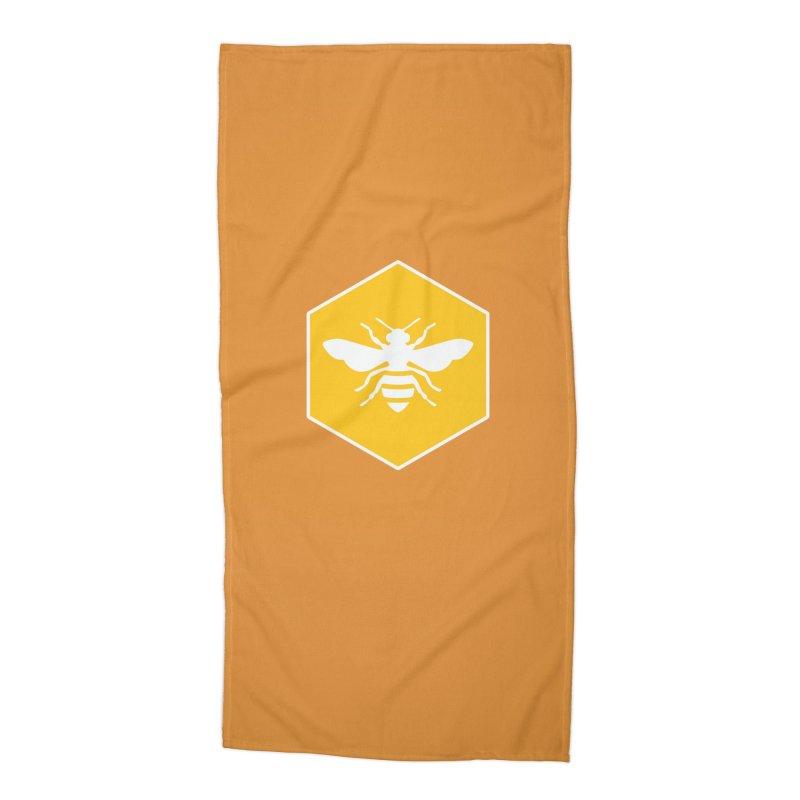 Bee Badge Accessories Beach Towel by DRACULAD Shop