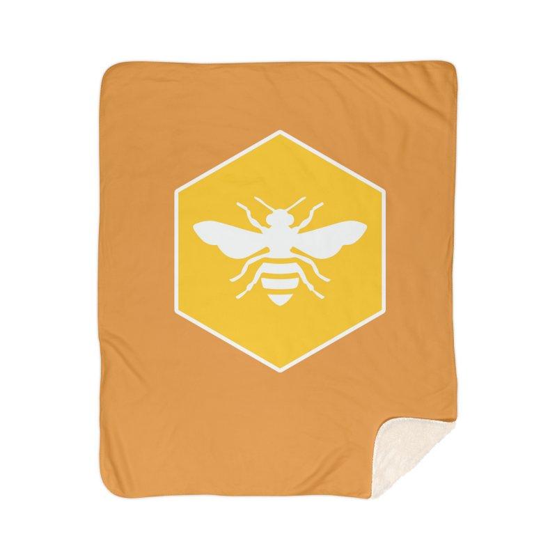 Bee Badge Home Sherpa Blanket Blanket by DRACULAD Shop