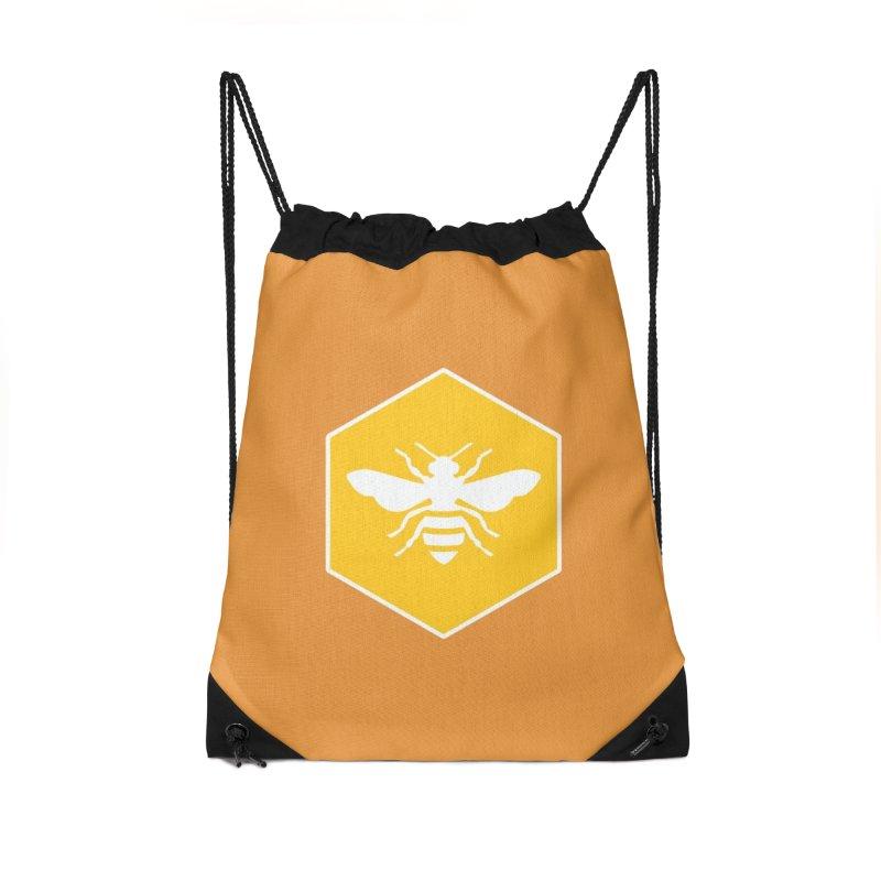 Bee Badge Accessories Drawstring Bag Bag by DRACULAD Shop