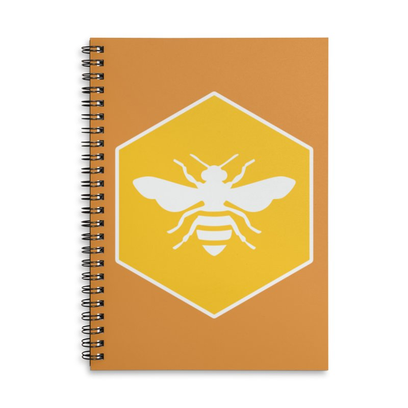 Bee Badge Accessories Notebook by DRACULAD Shop