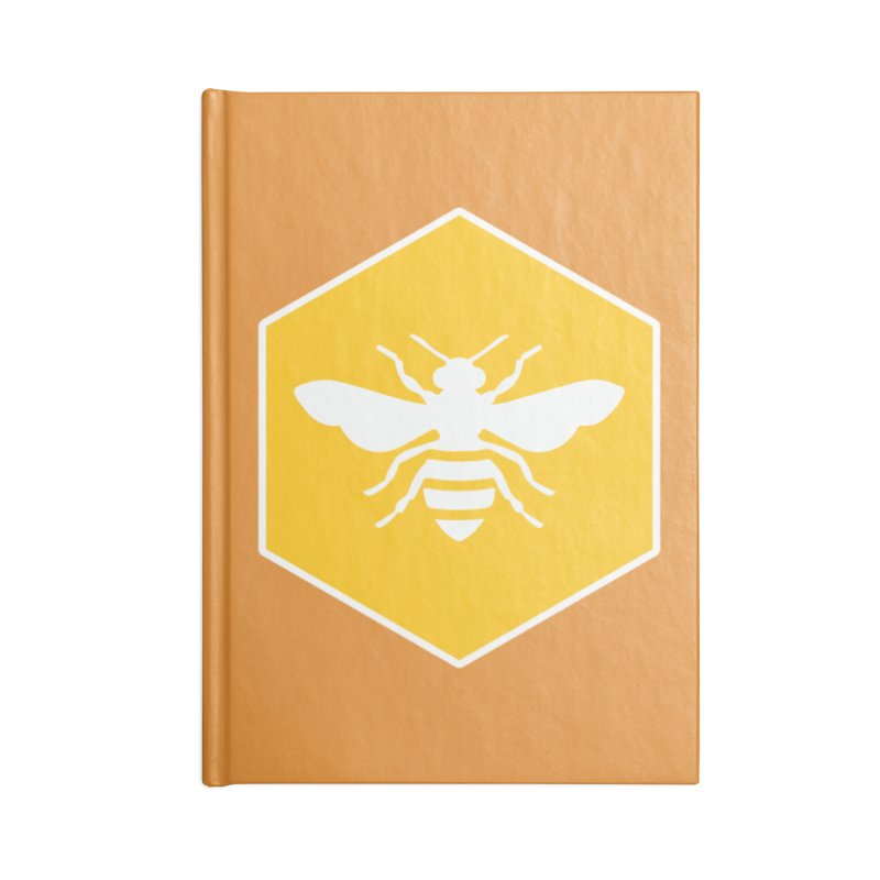 Bee Badge Accessories Blank Journal Notebook by DRACULAD Shop