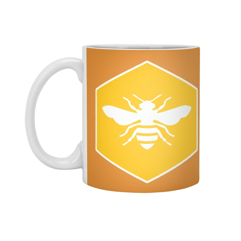 Bee Badge Accessories Standard Mug by DRACULAD Shop