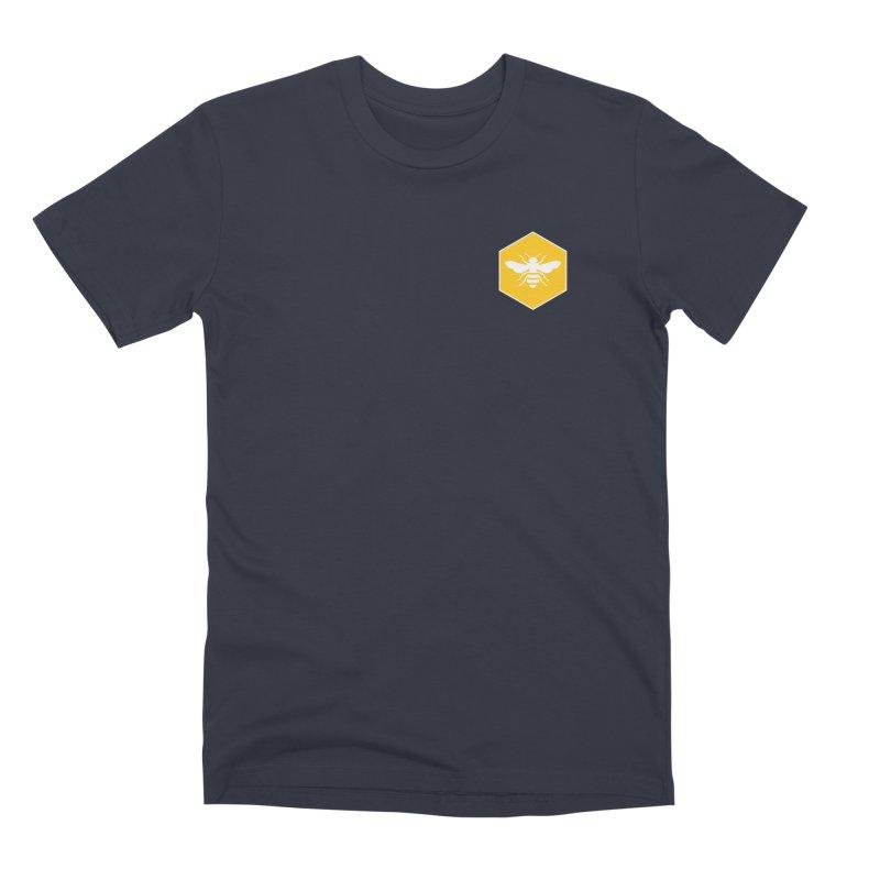 Bee Badge Men's Premium T-Shirt by DRACULAD Shop