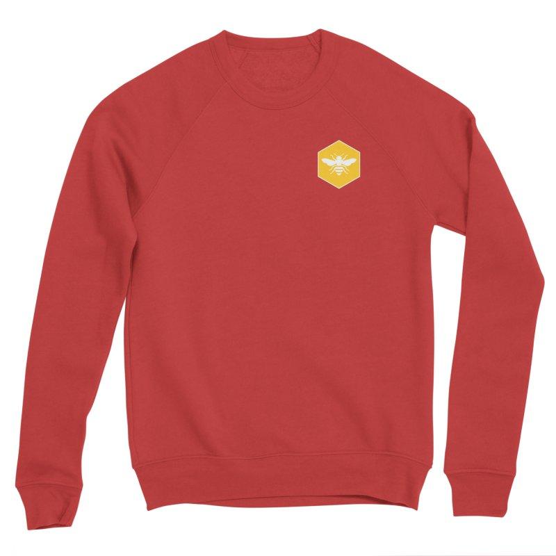 Bee Badge Women's Sponge Fleece Sweatshirt by DRACULAD Shop