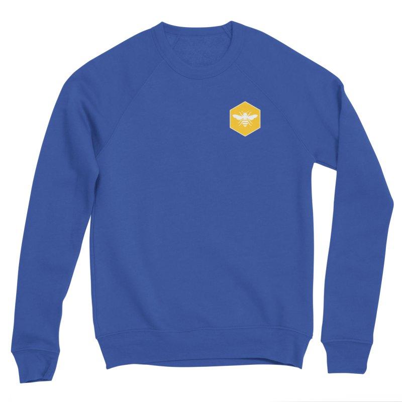 Bee Badge Men's Sponge Fleece Sweatshirt by DRACULAD Shop