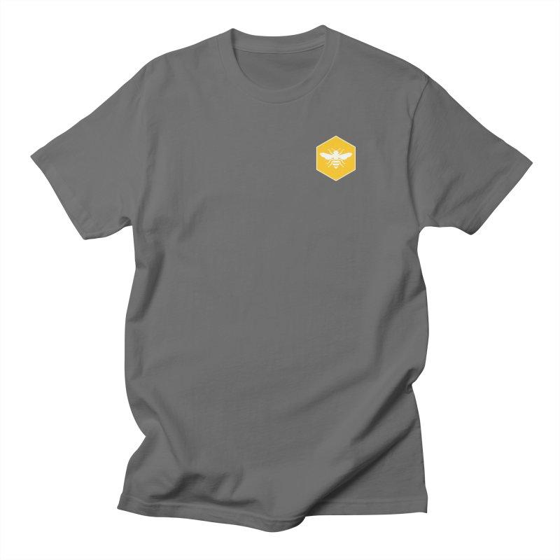 Bee Badge Men's T-Shirt by DRACULAD Shop